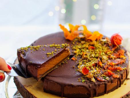 Raw Vegan Chocolate Orange Cake