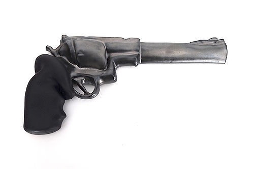 silver revolver art gun not too bent.JPG