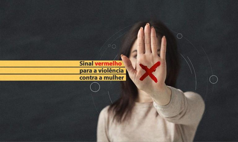 alerta contra agressões a mulher