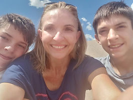 Me & my boys at the Great Sand Dunes!
