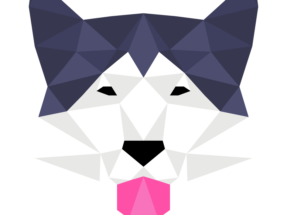 Low Poly Malamute Face