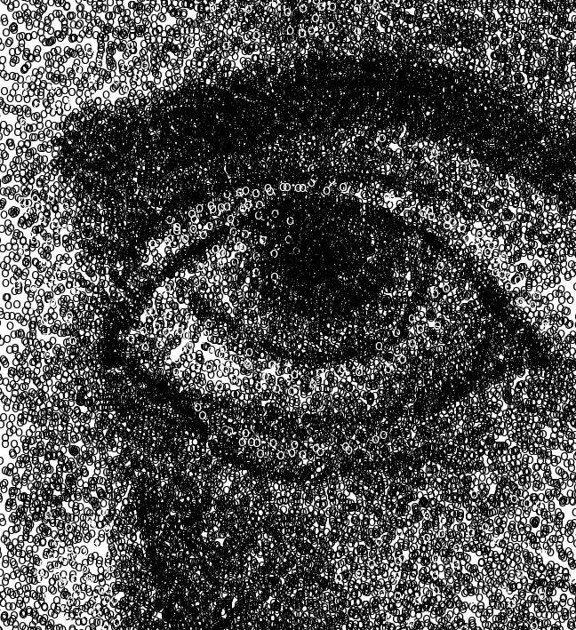 Human Eye Made of O's