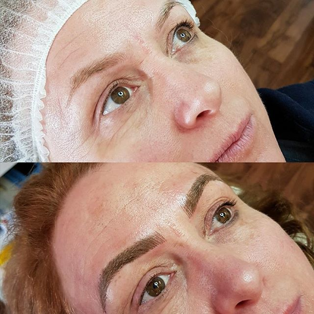 Another Brow Feathering client using our signature stencils. Brows done one by Alanna! ._._