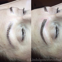 Brow Feathering - Before & After 😍 __ L'indulgence Hair Beauty & Brows Grange_ 8235 0900_L'indulgen