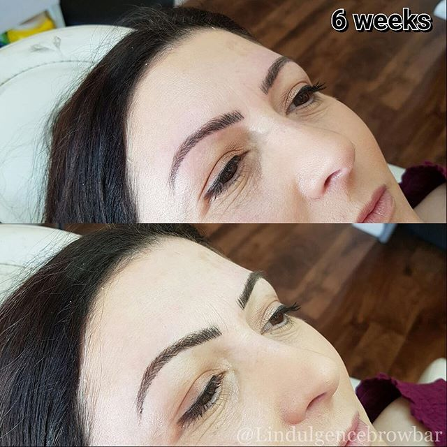 Just one of our happy Brow Feathering clients back for her complimentary 6 week touch up! Alanna fro