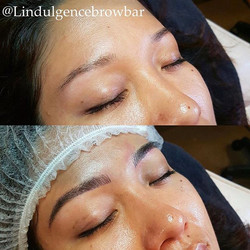 Brow Feathering by our lovely Alanna! 💕 __ L'indulgence Hair Beauty & Brows Grange_ 8235 0900_L'ind