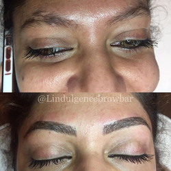 👏🏻👏🏻👏🏻 Brow Feathering - Before & After 😍 __ L'indulgence Hair Beauty & Brows Grange_ 8235 09