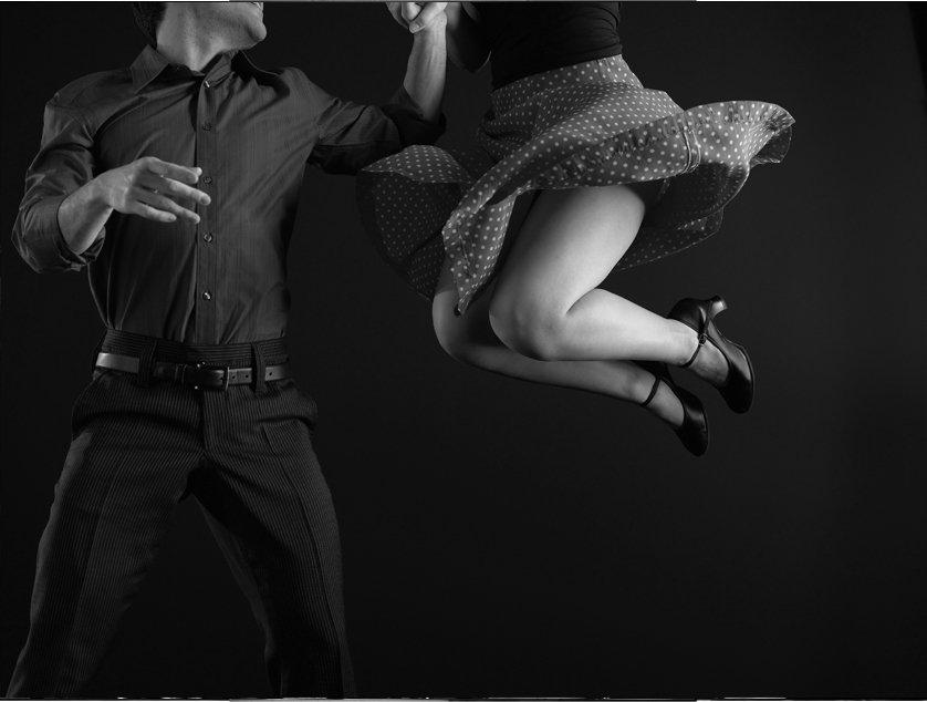 Salsa Dance B&W