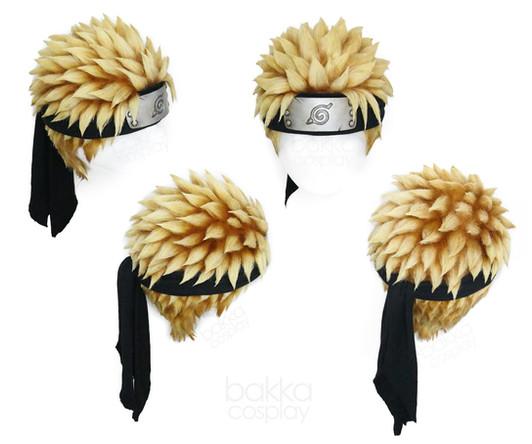 bakka Cosplay Naruto Shippuden wig & headband