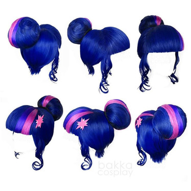 bakka Cosplay Twilight Sparkle wig