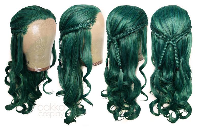bakka Cosplay green Orc wig