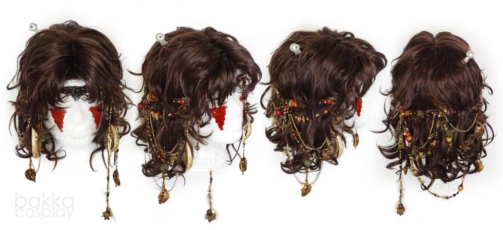bakka Cosplay Mononoke wig & props