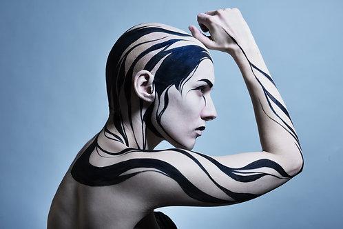 Print Bodypaint Blue