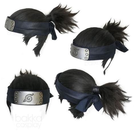 bakka Cosplay Iruka wig & bakka Up Do + Headband