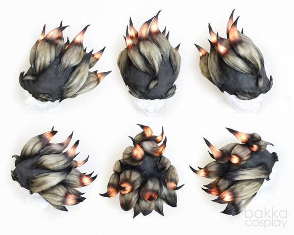bakka Cosplay Junkrat Wig light effect