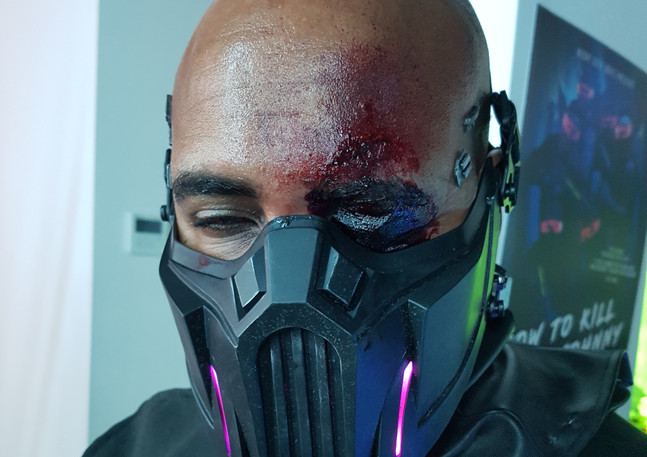 Fake eyesocket for VX add-ons, instantly made with a fresh mask on Eskindir Tesfay