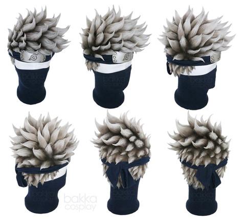 bakka Cosplay Kakashi Wig with Headband