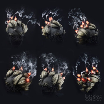 bakka Cosplay Junkrat Wig smoke effect