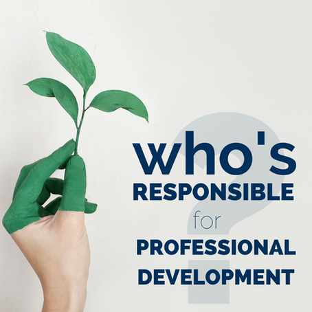 Who's responsible for Professional Development?