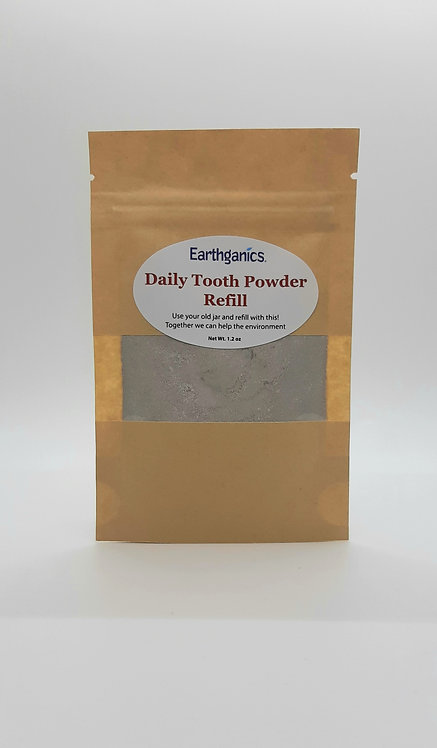 Eco Friendly Tooth Powder Refill Pouches