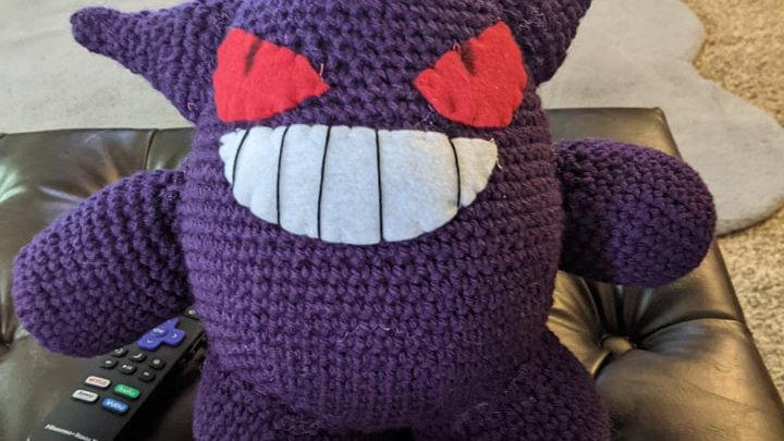 Gengar Amigurumi Crochet Pattern