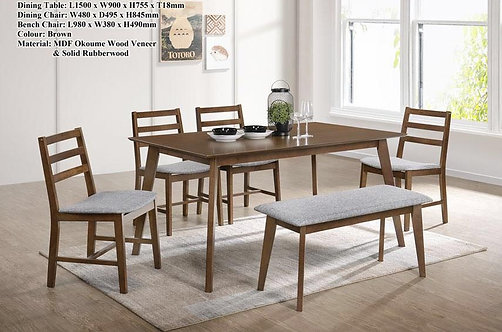 MX(6341) 6 Seater Dining Set