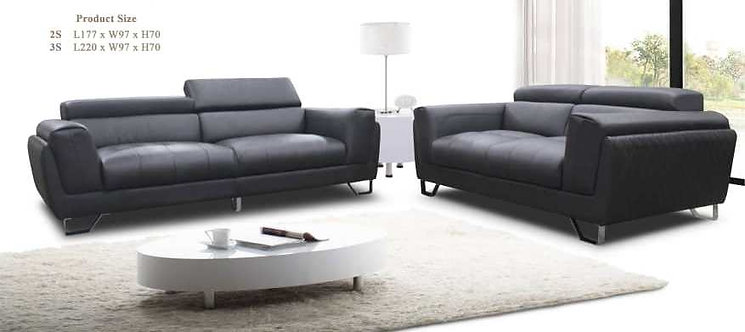 Reo Cowhide Leather 3 Seater Sofa