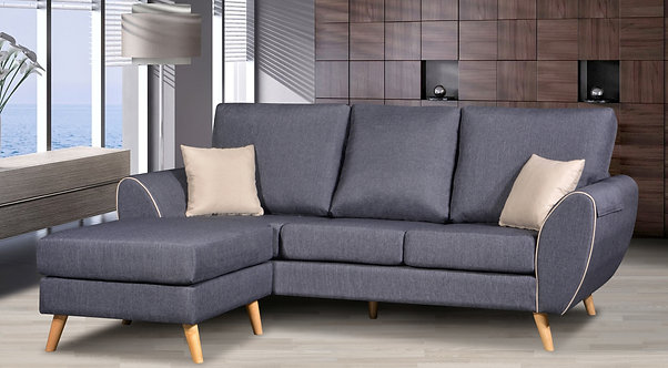 Visolo 3 Seater Sofa With Stool