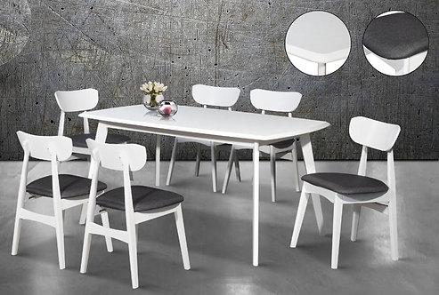 Maidera White Dining Set