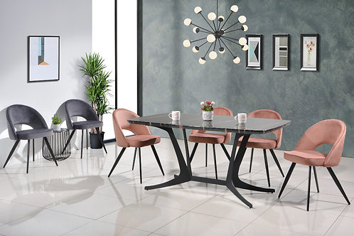 Melody 6 Seater Marble Dining Set