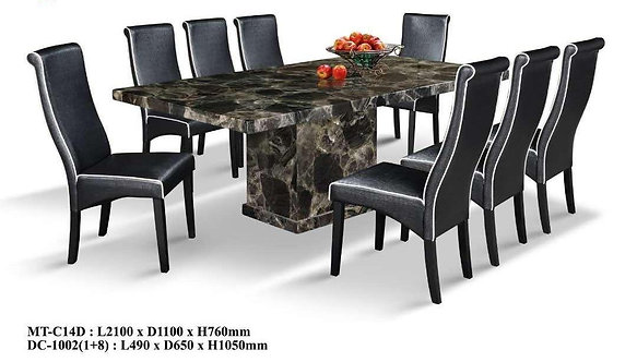 MT-C14T 8 Seater Marble Dining Set
