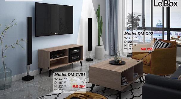 Le'box B(TV01+C02) 2in1 Living Room Set