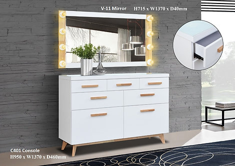 V(401) 4.5ft Sideboard With Mirror