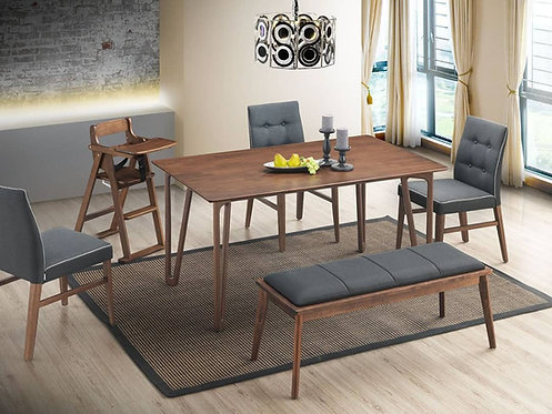 Harry(W) 6 Seater Dining Set