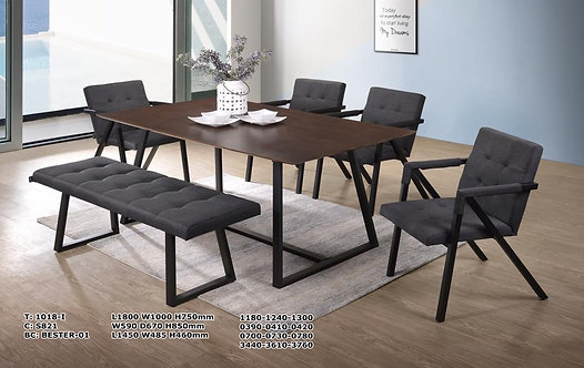 Bester(S821) 6 Seater Dining Set