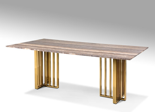 Morgane Titanium Gold Marble Table