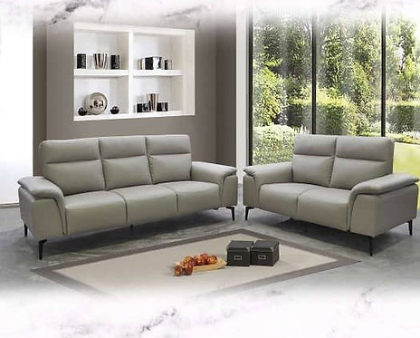 Milal Cowhide Leather 3 Seater Sofa