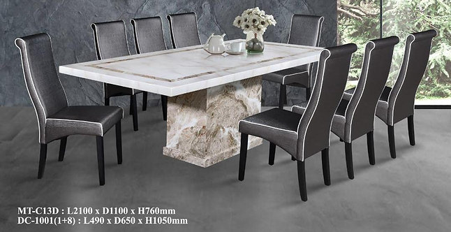 MT-C13D 8 Seater Marble Dining Set
