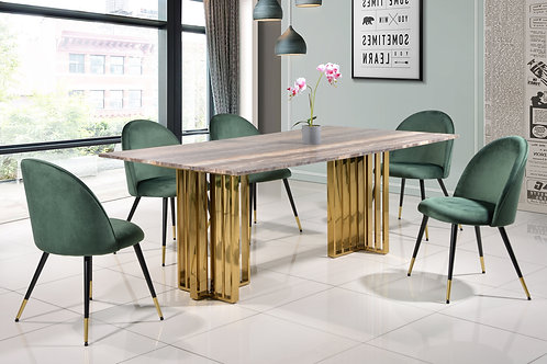 Morgane 6 Seater Marble Dining Set