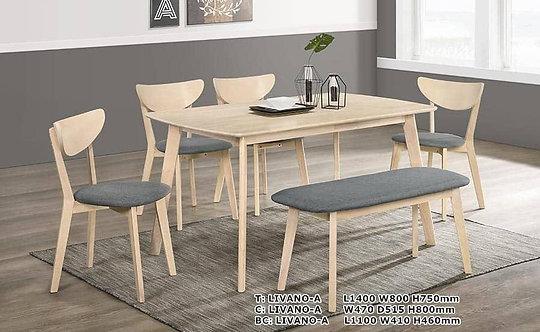 Livano(A/B) 6 Seater Dining Set