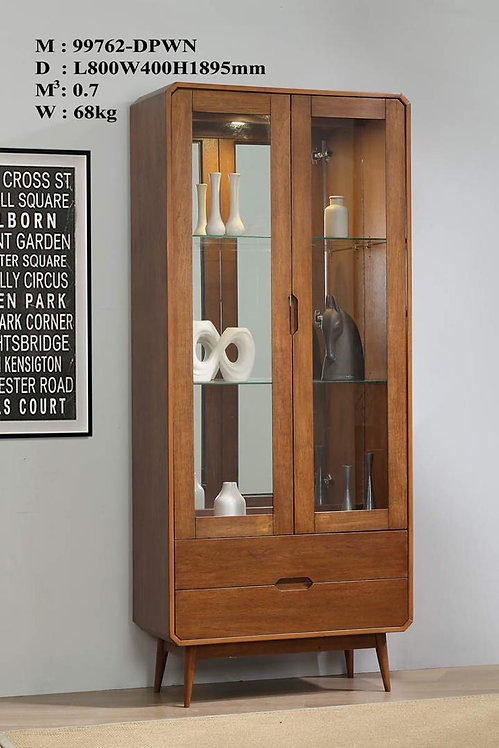 Mocha Display Cabinet