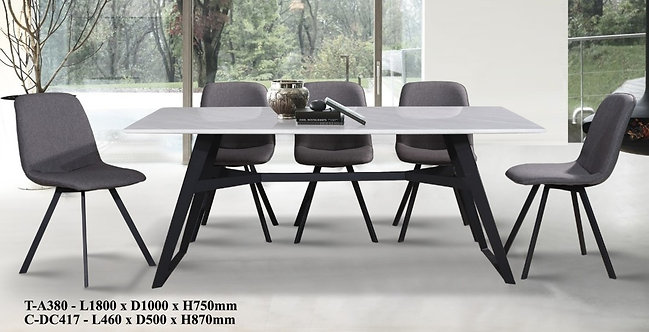 T(A380) 8 Seater Marble Dining Set