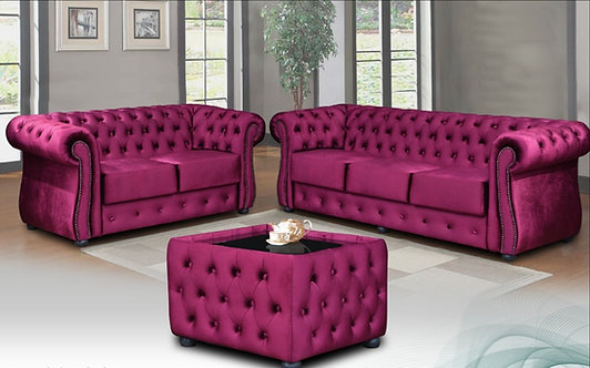 Kingdom Chesterfield Sofa Set