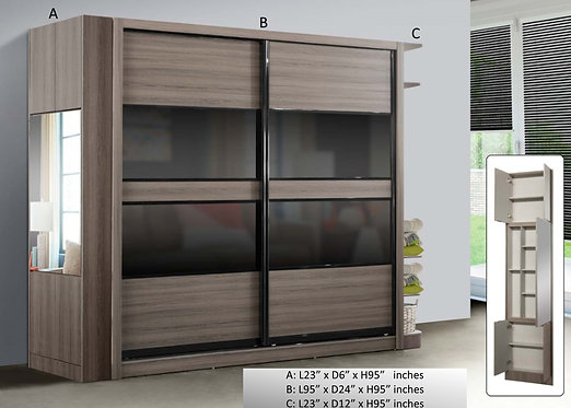 MX-(6260) 8ft x 8ft Wardrobe With Side Return Display Cabinet