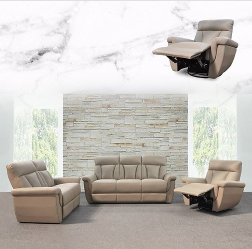 MX-9495N Cowhide Leather 3 Seater Sofa
