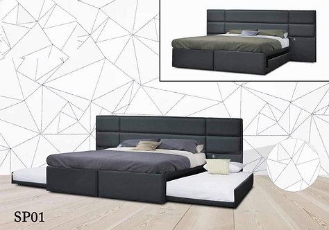 MX-NB01 King Bed Frame With Pull Out Bed