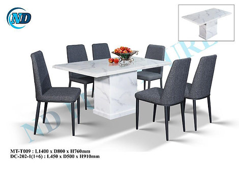 MT(T009) 6 Seater Marble Dining Set
