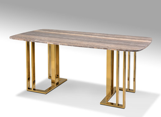 Graziano Titanium Gold Marble Table