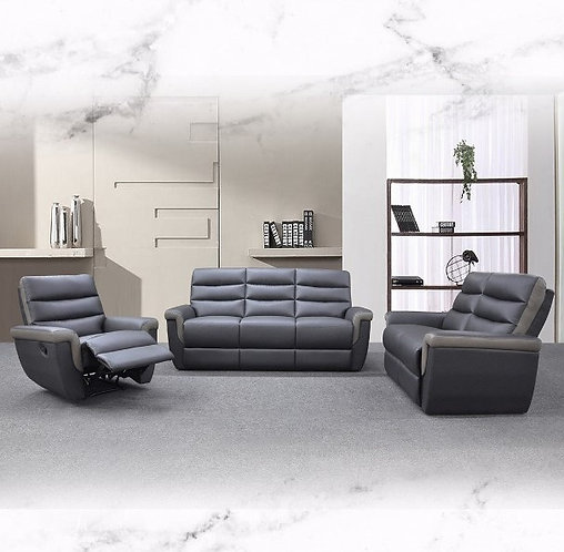 MX-9494A Cowhide Leather 3 Seater Sofa