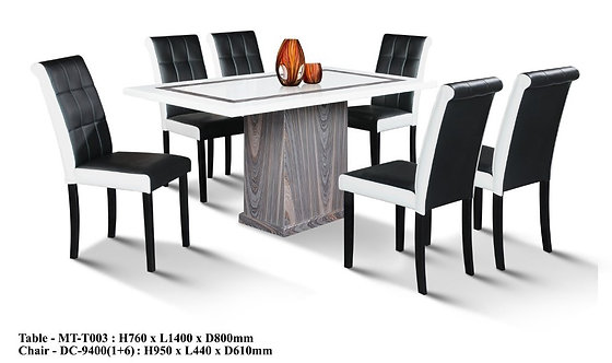 MT(T003) 6 Seater Marble Dining Set